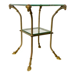 Italian Brass & Glass Side Table