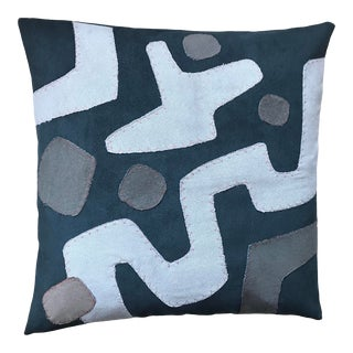 Reversible Kuba Inspired Pillow For Sale