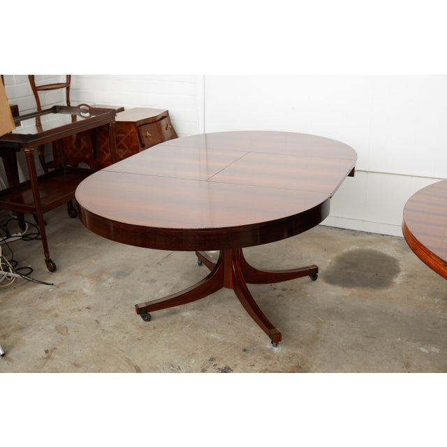 Brass Mid-Century Italian Convertible Dining Table With Self Containing Leaf For Sale - Image 8 of 9