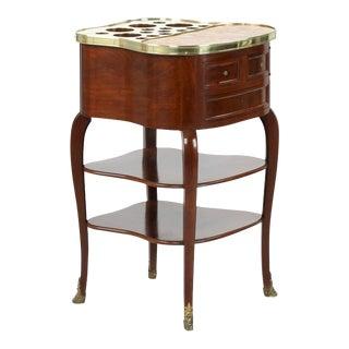 Circa 1900 Escalier De Cristal French Louis XV Style Liquor Table For Sale