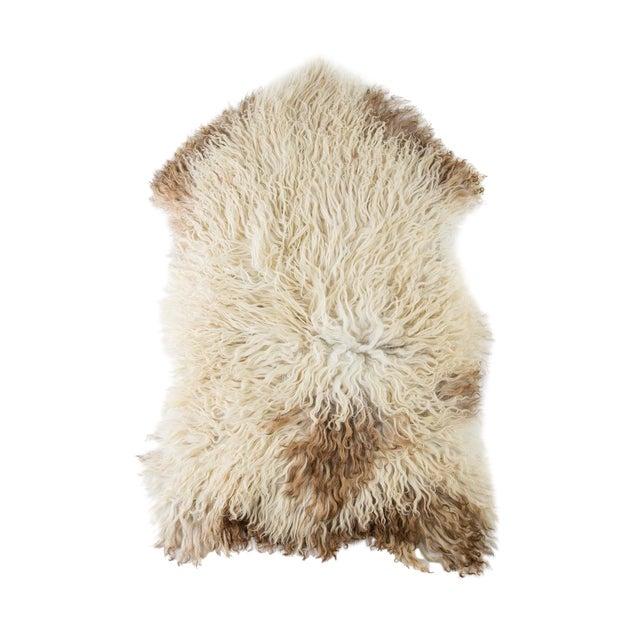 """Contemporary Natural Sheepskin Pelt - 2'2""""x3'6"""" For Sale"""
