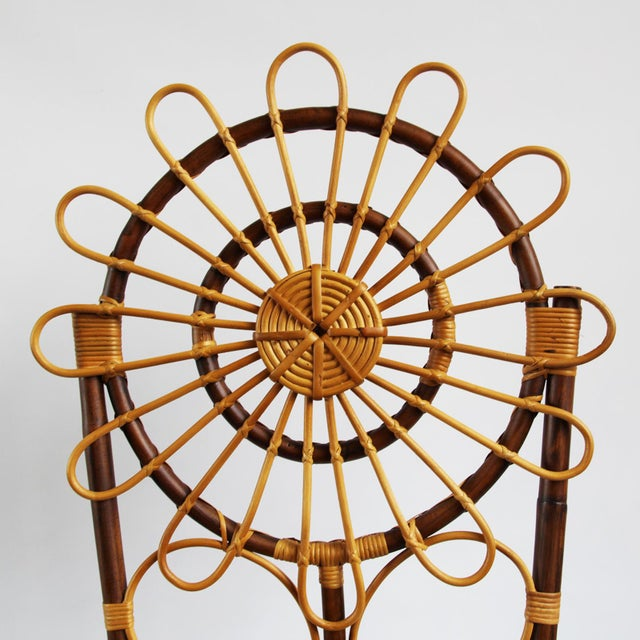 Tall Bamboo Sun Flower Chair - Image 4 of 8