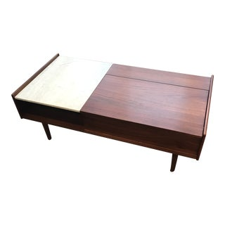 Mid-Century Modern West Elm Pop-Up Storage Coffee Table For Sale