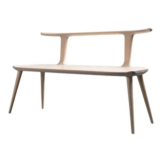 Oxbend Bench - White Ash For Sale