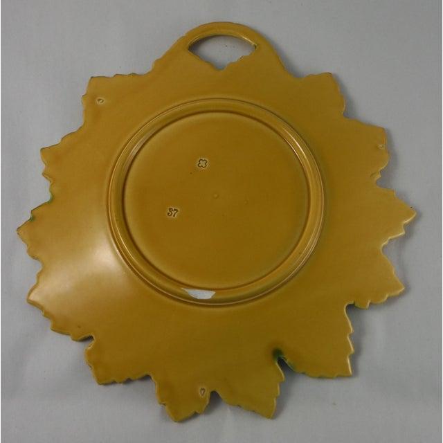 Majolica Leaf Platter - Image 3 of 3