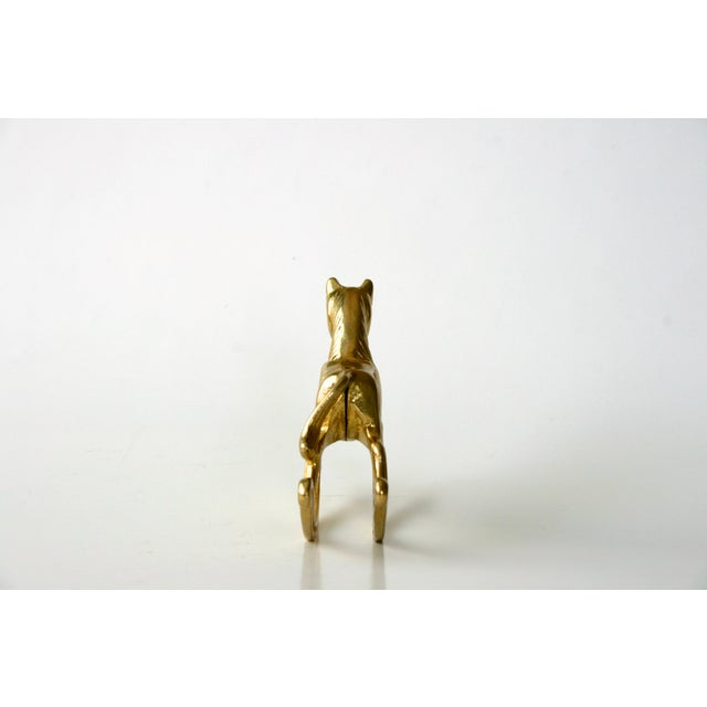 Mid-Century Modern 20th Century Childrens Brass Rocking Horse Figurine For Sale - Image 3 of 10