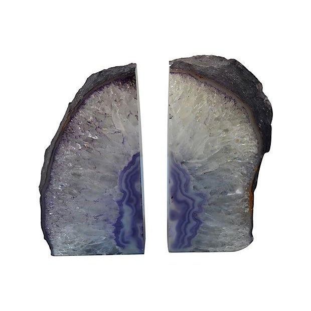 Lavender Geode Bookends - A Pair - Image 2 of 2