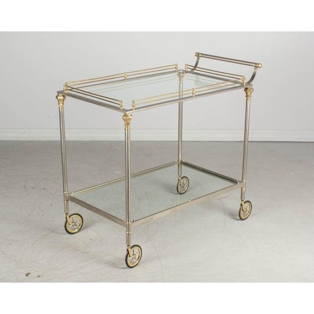 1970s Maison Jansen Style Italian Bar Cart For Sale - Image 12 of 12