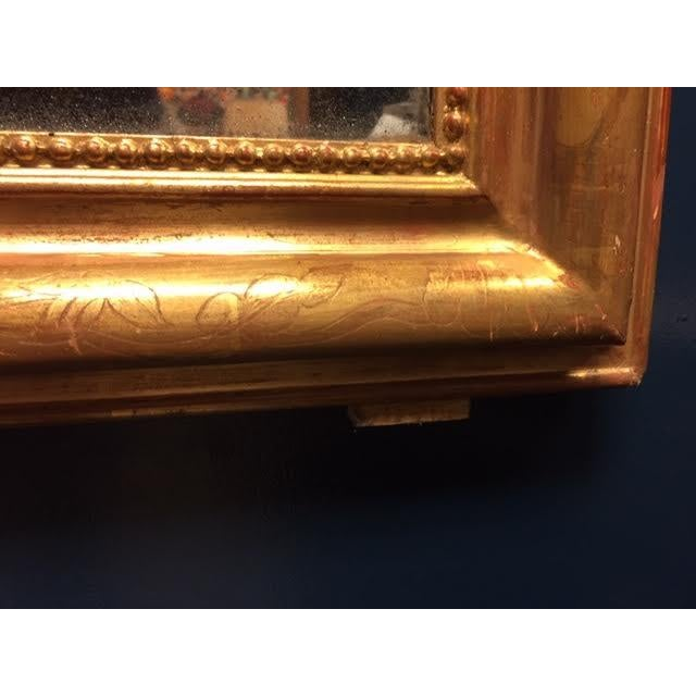 Glass 19th Century Gold Leaf Louis Philippe Mirror For Sale - Image 7 of 8