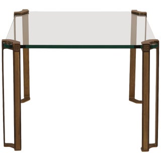 Peter Ghyczy Bronze and Glass Table For Sale