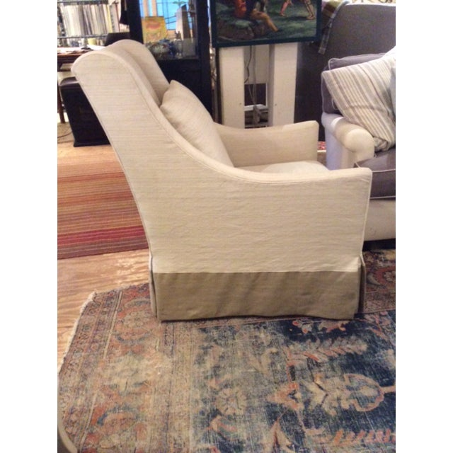 Fabric Modern Lee Industries Swivel Chair Item # 3471-01sw For Sale - Image 7 of 8