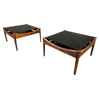 "1960s Mid Century Modern Kristian Vedel Rosewood ""Modus"" Side Tables - a Pair For Sale"