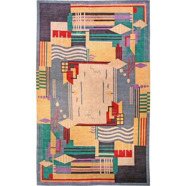 Deco Inspired Tibetan Rug- 18'3'' X 11' Ft For Sale In Los Angeles - Image 6 of 7