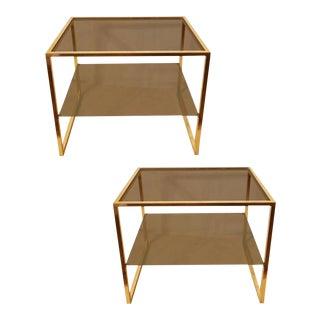 Maison Jansen 2 tier Side Tables. a pair