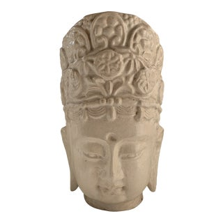 Ivory Majolica Quan Yin Buddha Head For Sale
