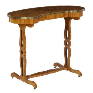 19th Century French Louis XVI Kingwood Antique Writing Table Console For Sale