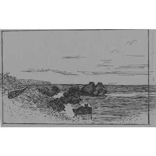 Caribbean Seascape Drawing by Hayward Cirker For Sale