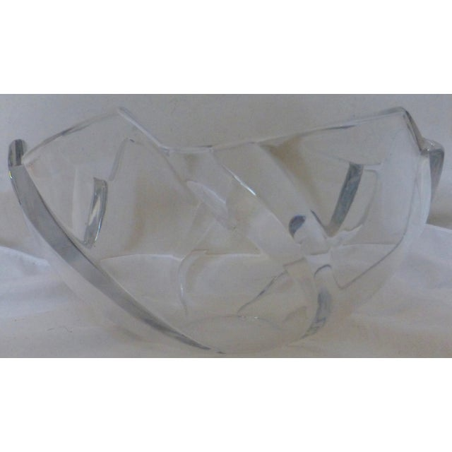 Crystal Mid Century Tiffany & Co. Lead Crystal Wave Bowl For Sale - Image 7 of 12