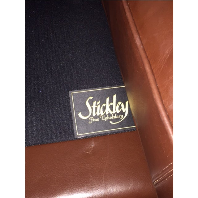 Stickley Leather and Wood Sofa - Image 7 of 7