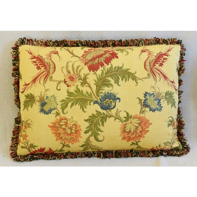 "Early 21st Century Italian Coraggio Jacquard Feather/Down Pillows 24"" X 17"" - Pair For Sale - Image 5 of 13"