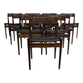 Grete Jalk for P. Jeppesens Rosewood Danish Dining Chairs For Sale