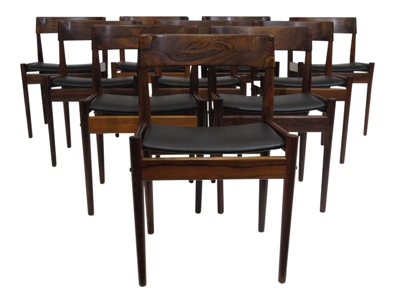 Grete Jalk For P. Jeppesens Rosewood Danish Dining Chairs   Image 1 Of 10