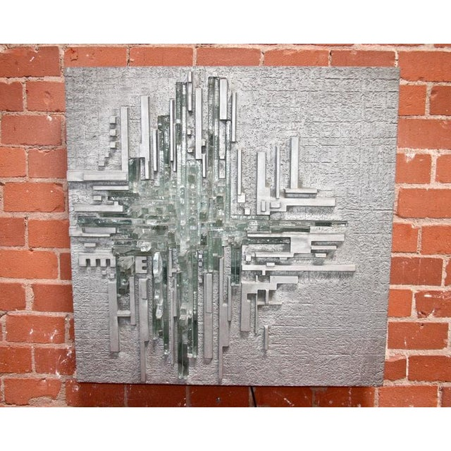 "1970s Poliarte by Akikaze Illuminated Wall Sculpture ""Rottura Spaziale"" For Sale - Image 5 of 6"