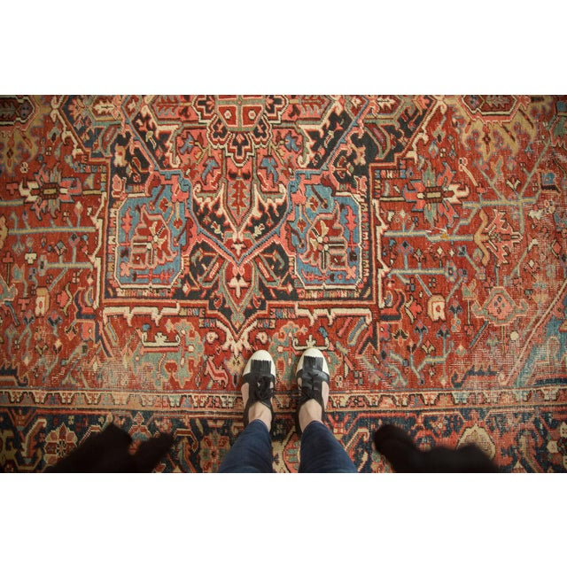 "Antique Heriz Carpet - 8'5"" X 11'3"" - Image 7 of 7"