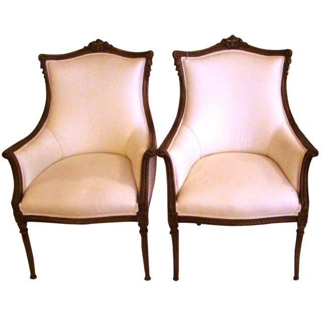 Vintage French-Style Club Chairs - A Pair - Image 1 of 9
