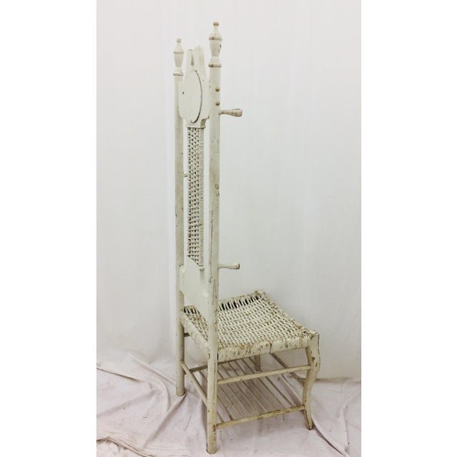 Antique Victorian Coat Rack - Hall Chair For Sale - Image 10 of 11