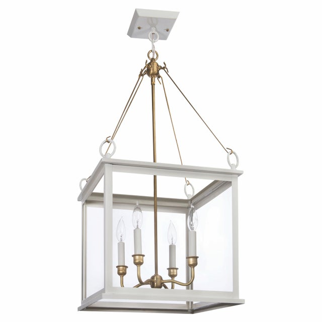 American Midtown Collection Hanging Light, White For Sale - Image 3 of 3