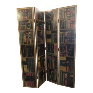 Library Motif Screen/Room Divider For Sale