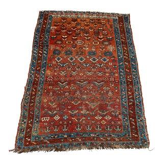 "Antique 1900s Northwest Persian Area Rug - 4'7"" X 6'7"" For Sale"