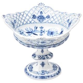 Meissen Blue Onion Centerpiece or Fruit Bowl For Sale