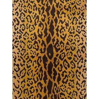 Scalamandre Leopardo Ivory Gold & Black Fabric Preview