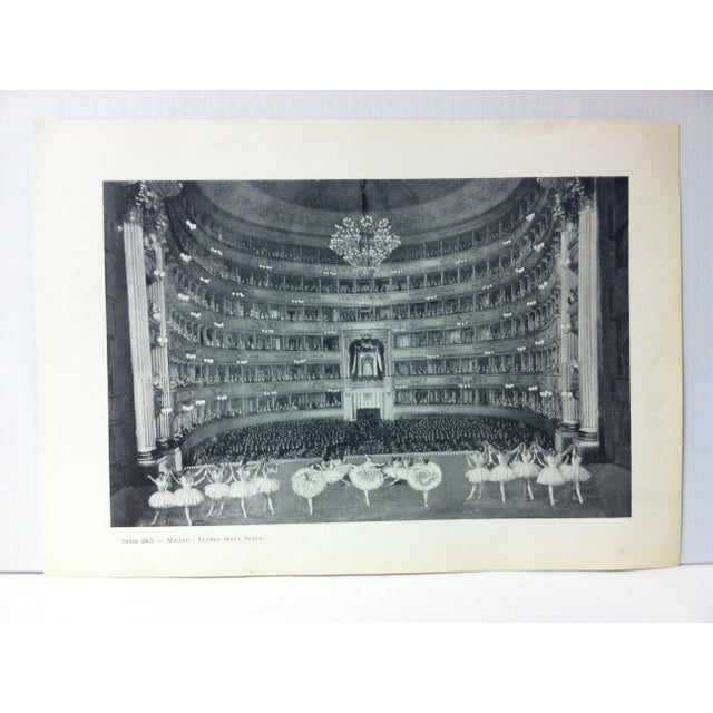 """This is a Vintage Print on Paper of Milano, Italy that is titled """"Teatro Della Scala"""". The Print was Published in Italy..."""