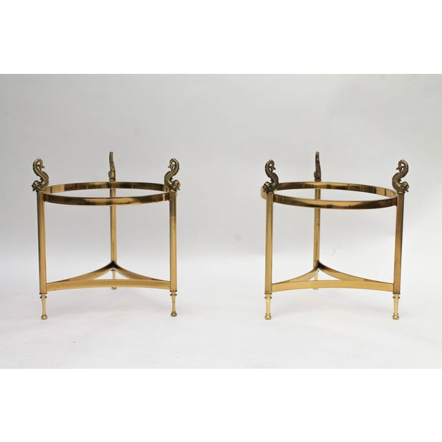 DIA Brass & Glass Side Tables - A Pair - Image 4 of 9