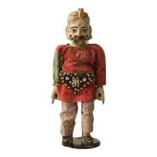 c.1910 Antique English Wooden Merchant Doll For Sale