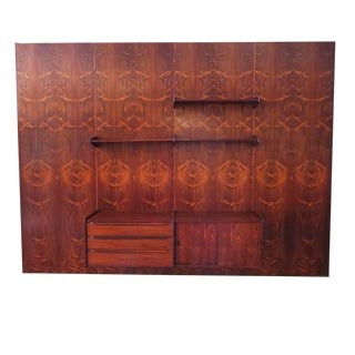 Monumental Midcentury Rosewood Wall Display Unit For Sale