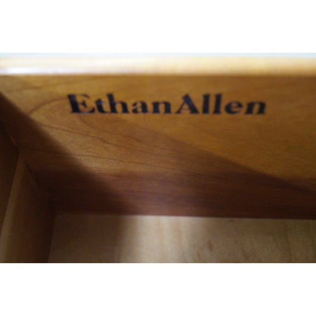 Ethan Allen Georgian Court Cherry Bookcases - Pair For Sale - Image 7 of 10