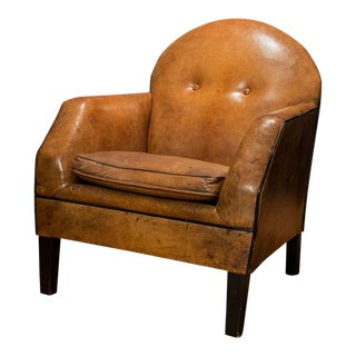 Leather Armchair by Bart Van Bekhoven From Holland For Sale
