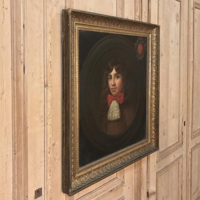 Late 18th Century 18th Century Framed Oil Portrait on Canvas For Sale - Image 5 of 12