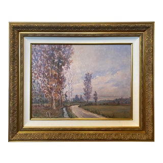 Pastel Landscape Oil Painting For Sale