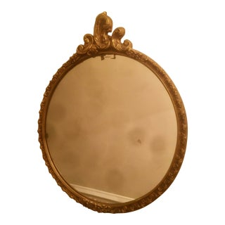 Late 19th Century Antique Gold Gilt Wood Mirror For Sale