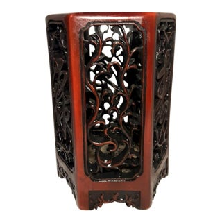 Antique Chinese Carved Brush Pot For Sale