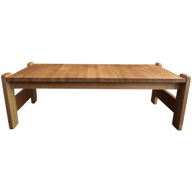Danish Modern Wooden Coffee Table - Image 1 of 7