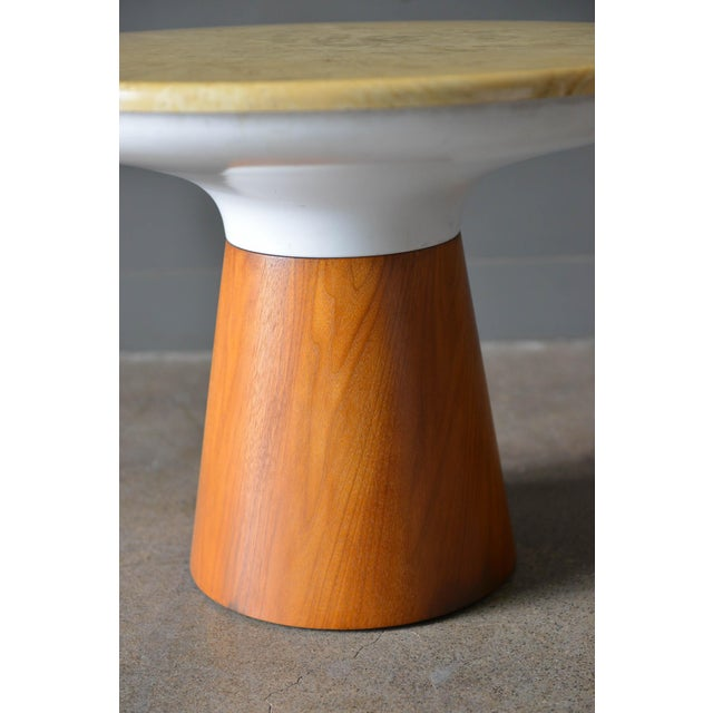 1965 Vintage Frank Rohloff for Brown Saltman Stone Occasional Table For Sale In Los Angeles - Image 6 of 8