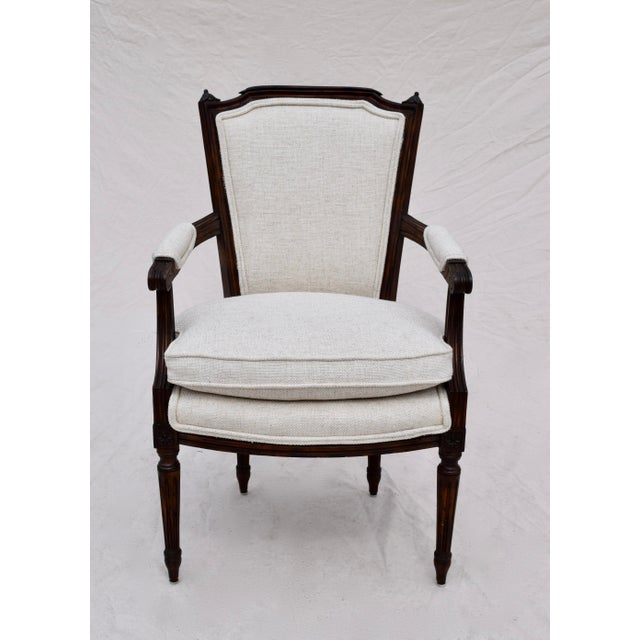 Louis XVI French Walnut Fauteuil Accent Chair For Sale - Image 13 of 13