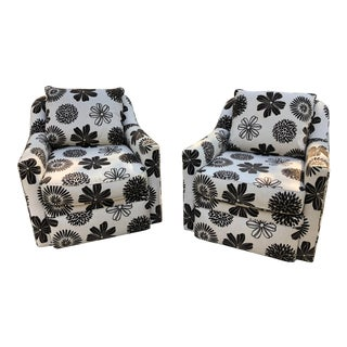 Rowe Furniture Swivel Chairs - a Pair For Sale