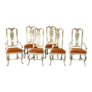 Vintage Mid Century Drexel Heritage Chinoiserie Chairs- Set of 6 For Sale